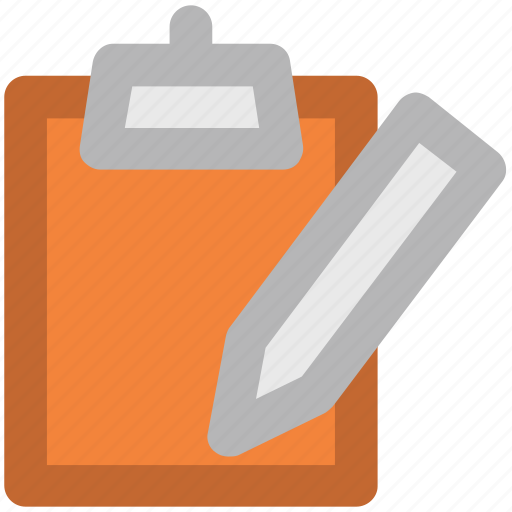 blank sheet, clipboard, edit, message, pen, task, writing icon