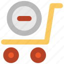 ecommerce, empty cart, remove sign, shopping, supermarket, trolley icon