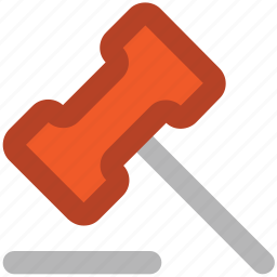 auction, auction hammer, gavel, hammer, justice, law symbol, mallet icon