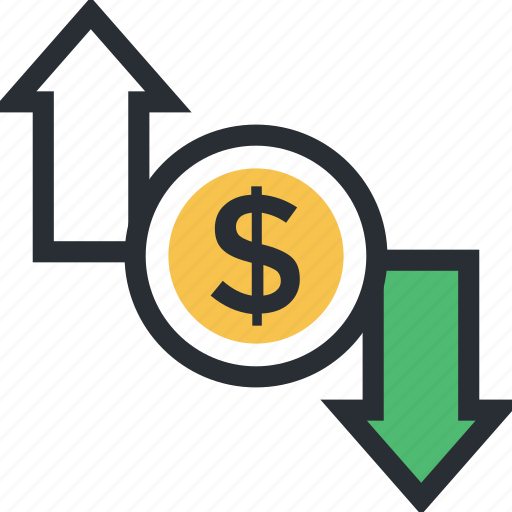 currency exchange, currency value, dollar, money exchange, money value icon