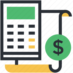 accounting, calculating, calculator, economy, finance icon