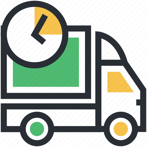 cargo, delivery van, shipment, shipment time, shipping truck icon