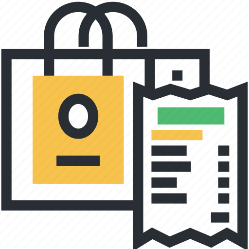 document, letter, paper bill, payment, shopping bill icon
