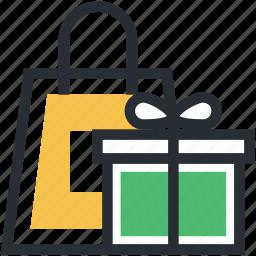 gift box, gift hamper, gift shopping, shopping, shopping bag icon