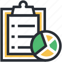 checklist, list, memo, pie chart, shopping list icon