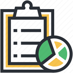 checklist, list, memo, pie chart, shopping list icon