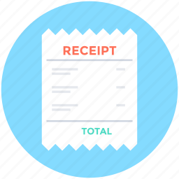 bill, document, invoice, receipt, voucher icon
