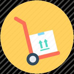 hand trolley, hand truck, luggage cart, platform truck, trolley icon