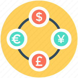 currency converter, currency symbols, forex, forex trading, money exchange icon