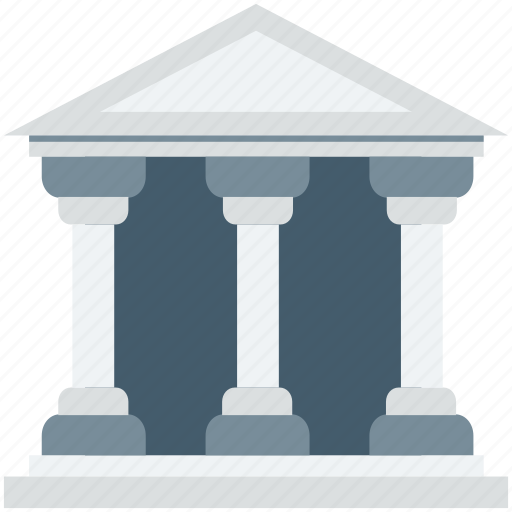 architecture, bank, building, court, real estate icon