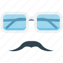 fashion, glasses, moustache, spectacles, sunglasses icon