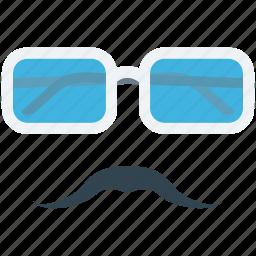fashion, glasses, moustache, spectacles, sunglasses icon