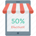 app, discount, online discount, online shopping, tablet icon