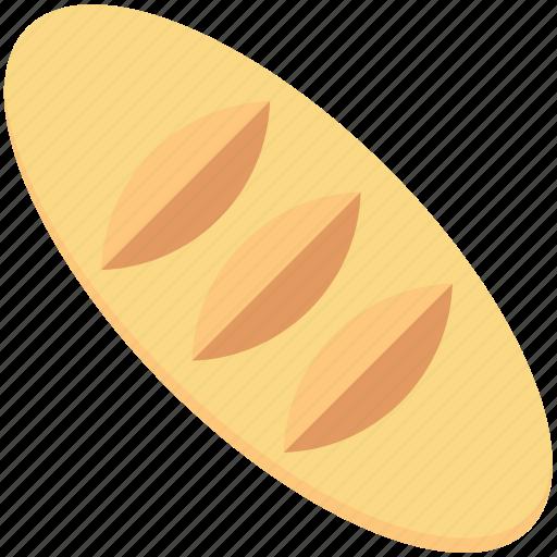 baguette, baguette bread, bread, breakfast, french bread icon