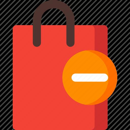 bag, buy, market, remove, shop, shopping, store icon