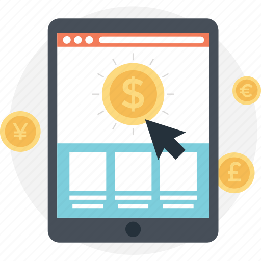 ecommerce, mcommerce, mobile banking, pay per click, ppc icon