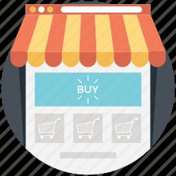 buy online, online shop, online shopping, shopping cart, webshop icon
