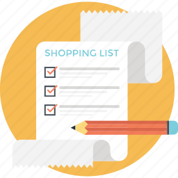 checklist, grocery list, merchandise, shopping list, wish list icon