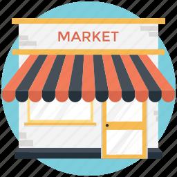 market, marketplace, shop, shopping, store icon