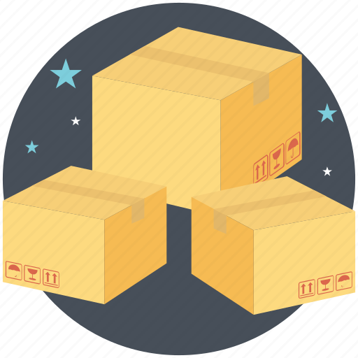 boxes stacks, cardboard boxes, labeling, packaging, shipping boxes icon