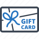 ecommerce, gift card, present, ribbon, shopping icon
