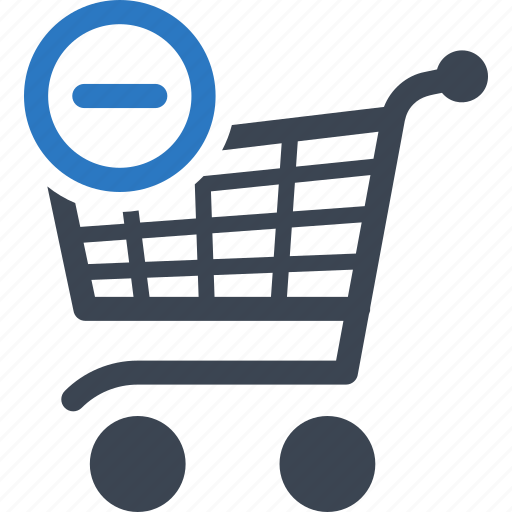 buy, cart, ecommerce, remove, shopping cart icon