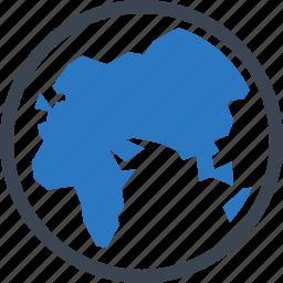earth, globe, map, worldwide icon