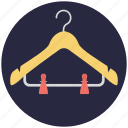 closet, clothes hanger, dress hanger, hanger, wardrobe icon