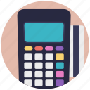 card swipe machine, card terminal, edc machine, eftpos terminal, payment terminal icon