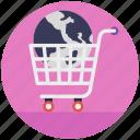 buy online, ecommerce, global market, online shopping, trolley