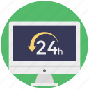 call center, customer assistance, customer services, customer support, twenty four hours icon
