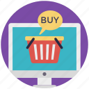 buy now, buy online, ecommerce, internet shopping, online shopping icon