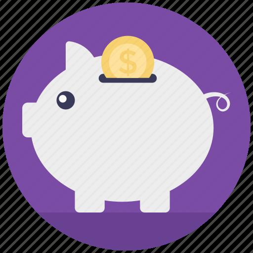 emergency funds, penny bank, piggy bank, retirement, savings icon