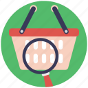ecommerce, ecommerce guide, online product search, online shopping, search basket icon