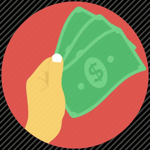 banknote, cash, finance, money, wealth icon