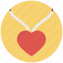 accessory, fashion, heart necklace, jewellery, pendant icon