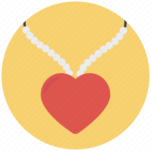 accessory, fashion, heart necklace, jewellery, pendant icon