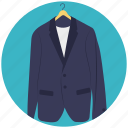 apparel, blazer, clothing, dress coat, jacket icon