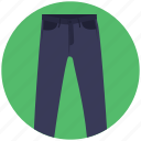 clothing, dress pants, jeans, pants, trousers icon