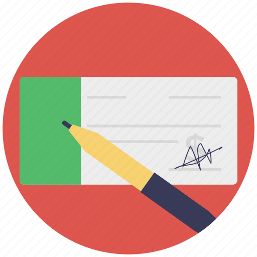 agreement, cheque signing, pen, petition, signing icon