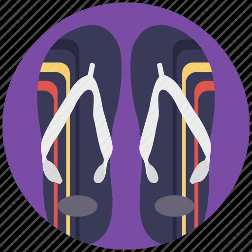 beach sandals, flat sandals, flip flops, footwear, shoes icon