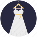 clothing, party wear, wedding gown, woman frock, women dress icon