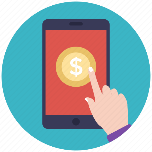 banking app, m-commerce, online banking, online payment, online transaction icon