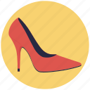 footwear, heel shoes, heels, high heel, women shoes icon