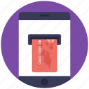 e transactions, mobile banking, online payment, payment method, wireless banking icon