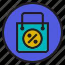 bag, interface, price, shopping icon