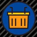 basket, botton, interface, shopping