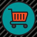 botton, cart, interface, shopping icon