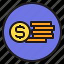 cash, interface, money, shopping icon