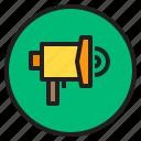 interface, mega, phone, shopping, sound icon